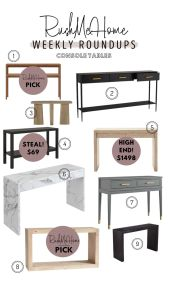 Weekly Round ups Console Table
