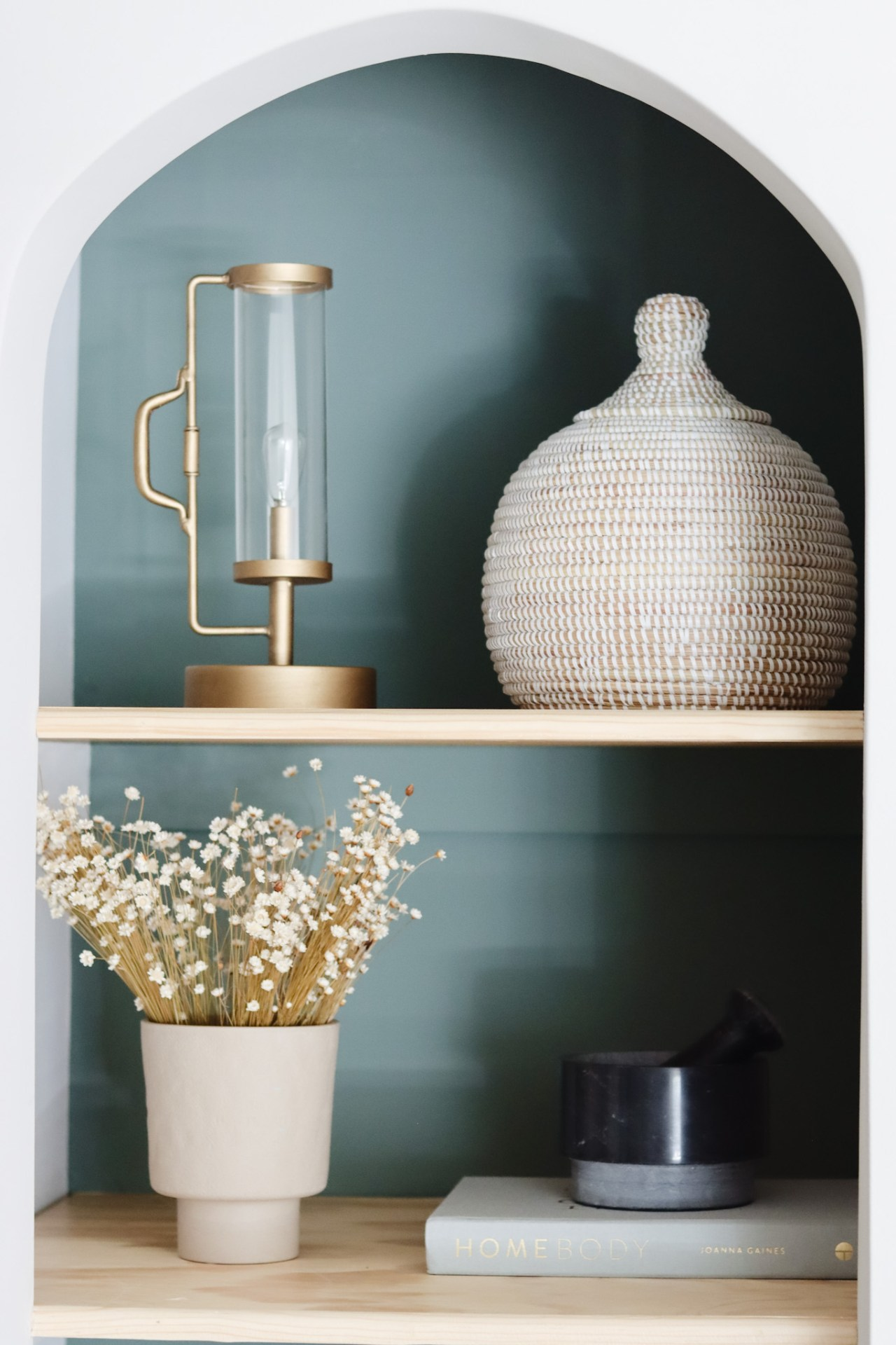 interior decorating rushmehome's featured, green shelf